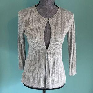 BCBGMaxAzria Cardigan Sweater M Gray